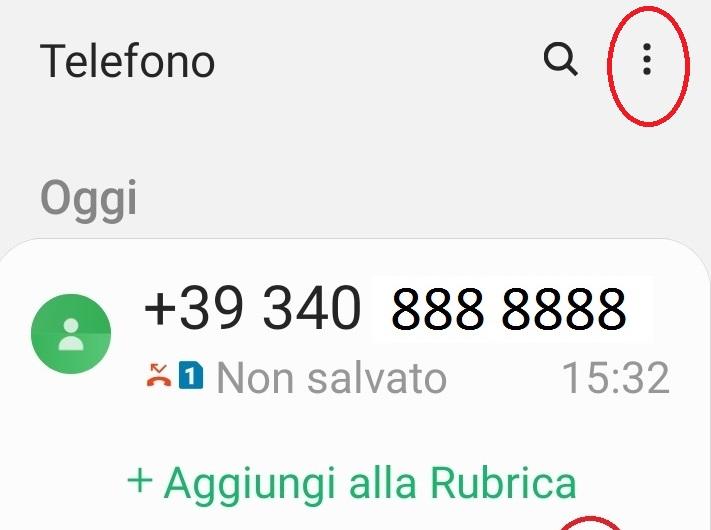 bloccare un numero