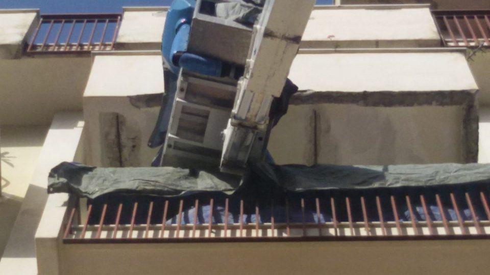 Infiltrazioni d'acqua dal balcone