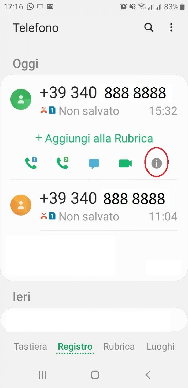 Numero telefonico