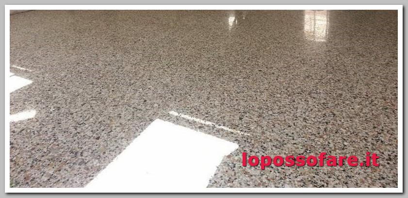 pavimento graniglia rovinato