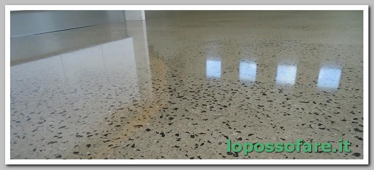 pavimento graniglia rovinato lucidato