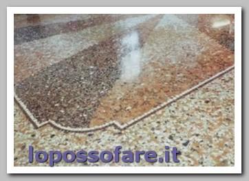 pavimento graniglia rovinato restaurato