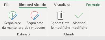 Office 365  rimuovere sfondo ad immagine